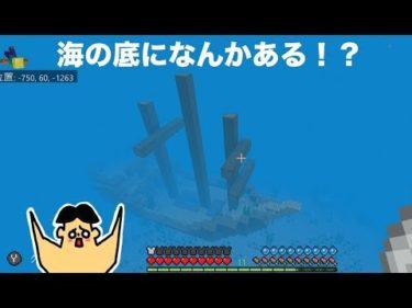 #11 ドイヒーくんのマイクラ実況「旅に出たら海底で何かを発見!海賊船か?」【ドイクラ・マインクラフト・ゲーム】