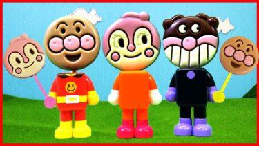 アンパンマン アニメ おもちゃ パチッと変身アンパンマン みんなの顔がペロペロチョコになっちゃった!? ペロペロチョコ Anpanman Toy