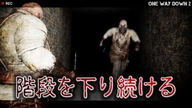 【フリーホラーゲーム】階段を下りる度、死が近づくホラゲ【One Way Down 2】鳥の爪団実況
