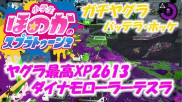 【ウデマエX】小6女子のゲーム実況 ガチヤグラ 最高XP2600越えのダイナモ使いです!