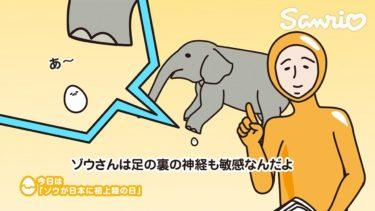 ぐでたまショートアニメ「ゾウが日本に初上陸の日」(7/15放送)