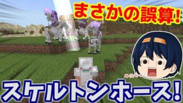 【Minecraft】スケルトンホースと遭遇!装備も不十分で果たして勝つことはできるのか!? パート18【ゆっくり実況】