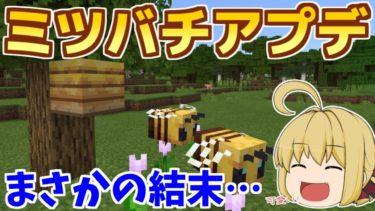 【Minecraft】ついにミツバチアプデきたー!!ミツバチを探しに大冒険! パート22【ゆっくり実況】